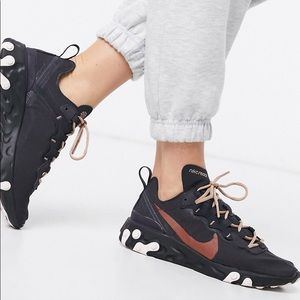 Nike React Element 55 Holiday Sparkle Sneaker 9US